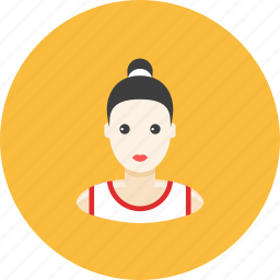 avatar, face, girl, japanese, karate, profile, sport icon