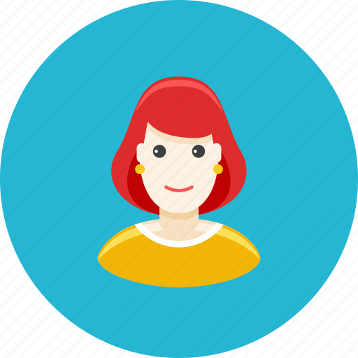 avatar, face, mother, profile, redhead, wife, woman icon