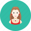 avatar, dress, earrings, face, jewelry, profile, woman icon