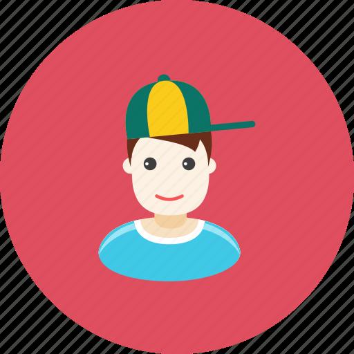 avatar, boy, face, profile, schoolboy, son, teenager icon