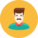 avatar, face, father, husband, man, mustache, profile icon
