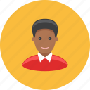 avatar, boy, face, negro, profile, shirt, teenager icon