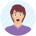 angry, avatar, boy, emotion, expression, handsome, man icon