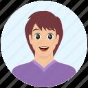 avatar, boy, emotion, expression, handsome, in love, man icon