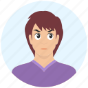 avatar, boy, emotion, expression, handsome, man, offended