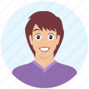 avatar, boy, emotion, expression, handsome, ironic, man icon