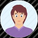 avatar, boy, emotion, expression, handsome, man, sad icon