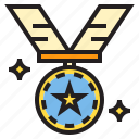 medal, prize, trophy, win, winner icon