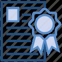 award, best, certificate, paper, premium, prize, web icon
