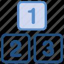 award, box's, numbers, win icon