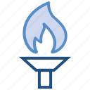 award, fire, flame, leader, olympic, torch, winner icon