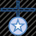 award, badge, medal, prize, reward, star, win icon