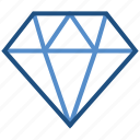 award, badge, diamond, medal, prize, reward, win icon