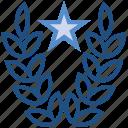 award, laurel wreath, prize, reward, ribbon, star, victory