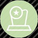 award, medal, prize, reward, win icon