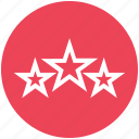 award, elementary, prize, special, stars, three stars, win icon