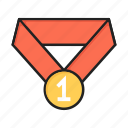 award, first, medal, winner icon