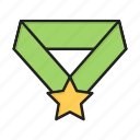 award, medal, star icon
