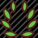 award, wreath, leaves