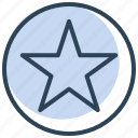 star, badge, achievement, award