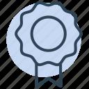 medal, badge, award, ribbon