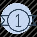 winner, ribbon, badge, award