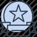 winner, ribbon, badge, award, star