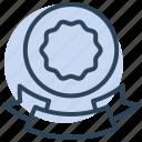 ribbon, badge, award, quality