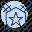 star, badge, award, military, shield