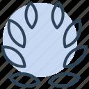 wreath, leaves, award