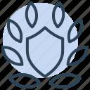 guarantee, wreath, award, shield