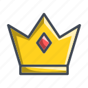 crown, king, queen, royal, trophy icon