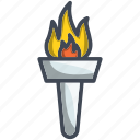 olympic, olympic flame icon