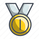 achievement, award, gold, medal, trophy icon