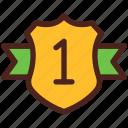 award, shield, medal, winner, badge