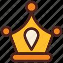 achievement, king, crown, award