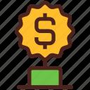 award, money, trophy, winner, dollar