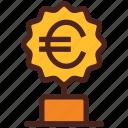 winner, award, money, trophy, euro