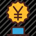 yen, award, money, trophy, winner