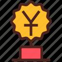 award, money, trophy, winner, yuan