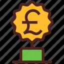winner, award, money, trophy, pound