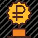 ruble, award, money, trophy, winner