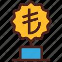 award, money, trophy, winner, lira