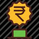 award, money, trophy, winner, rupee