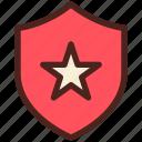 award, shield, star, medal
