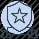 shield, star, badge, award, medal