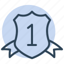 shield, winner, badge, award, medal