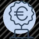 trophy, winner, money, award, euro