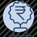 rupee, winner, award, money, trophy