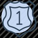 shield, winner, award, medal